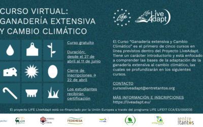 Inscripciones abiertas del Curso 1 LiveAdapt: Ganadería extensiva y Cambio Climático