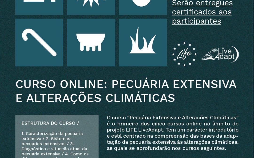 Inscrições abertas do curso 1 Life LiveAdapt – Pecuária extensiva e alterações climáticas